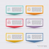 Постер, плакат: Vector Colorful Info Graphics For Your Business Presentations Can Be Used For Info Graphics Graphi