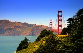 stock photo of golden gate bridge  - the golden gate bridge at san francisco california - JPG