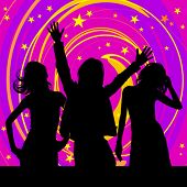 foto of pop star  - Disco silhouettes - JPG