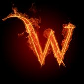 stock photo of alphabet letters  - Fiery font - JPG