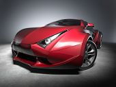 Red sports car.  My own car design. Not associated with any brand. poster