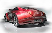 stock photo of luxury cars  - Red sports car - JPG
