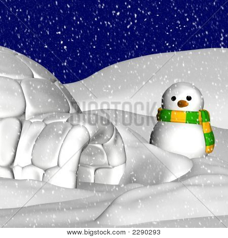 Snowman And Igloo