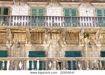 Pattern Balcony And Windows - Kotor, Montenegro