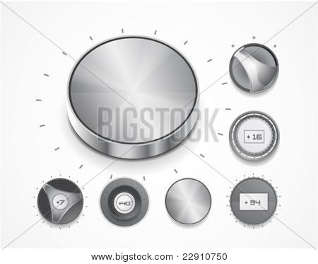 Set of vector volume knobs