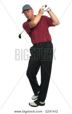 Golfer Drive Swing