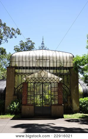 Old victorian greenhouse in a park