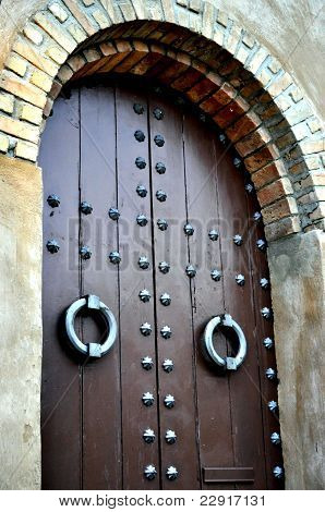 Wooden Arched Door