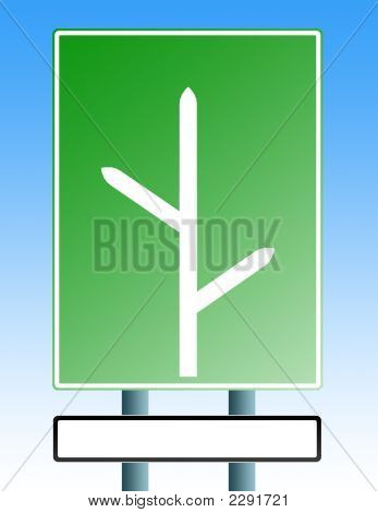 Blank Roadsign With Blank Exit3