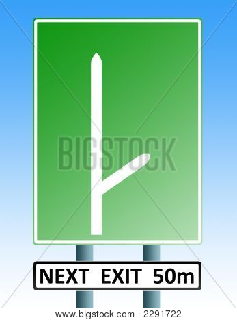 Blank Roadsign With Exit 02