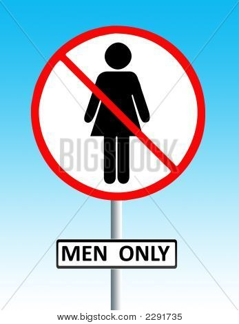 Men Only Sign