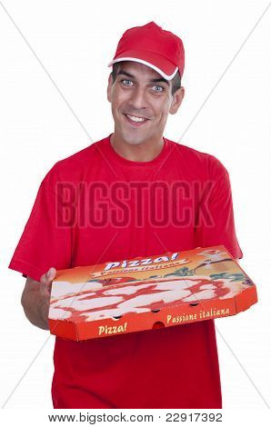 Pizza Delivery Guy In Red