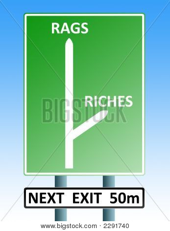 Rags Riches Roadsign