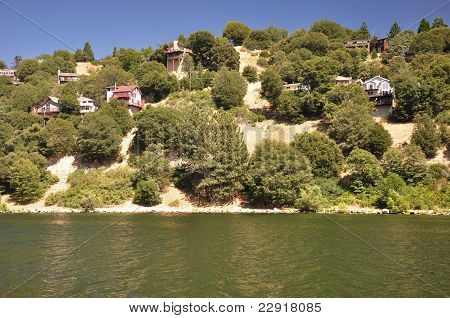 Homes above the lake