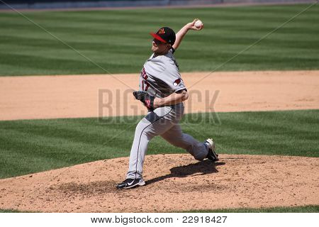 Rochester Red Wings pitcher Eric Hacker