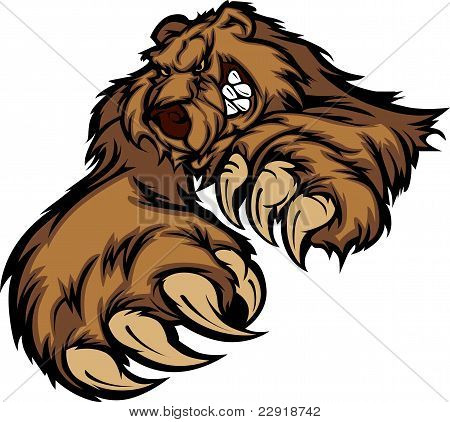 Cuerpo de la mascota de Grizzly Bear