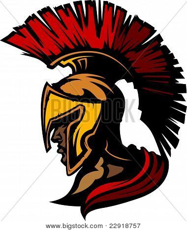Roman Centurion Mascot Head with Helmet
