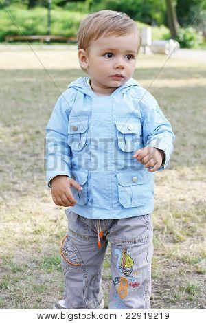 Child  On A Walk