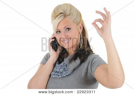 Attractive Woman Using A Smart Phone 07