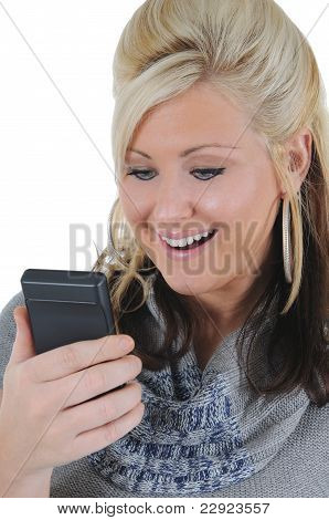 Attractive Woman Using A Smart Phone 10