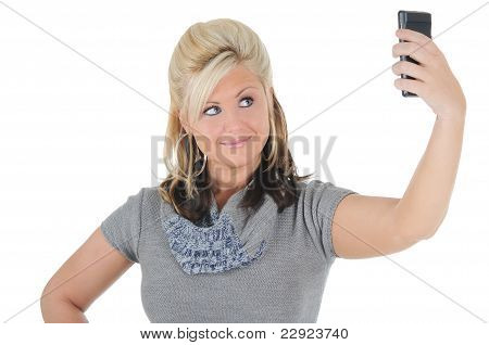 Attractive Woman Using A Smart Phone 11