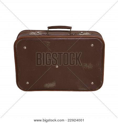 closed vintage suitcase
