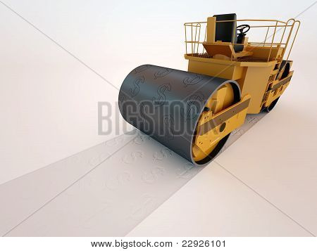 road roller dollar press