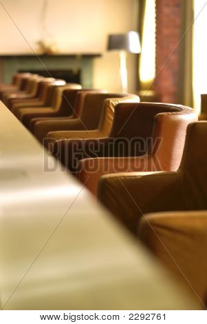 Row Of Seats In Small Bar