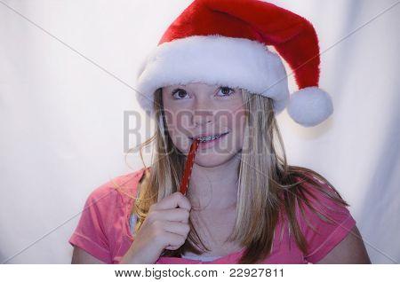 Teen santa helper