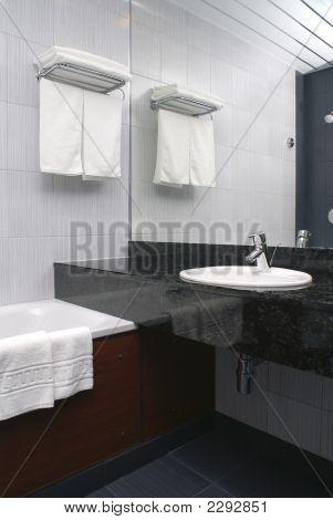 Bathroom  Interior In Hotel
