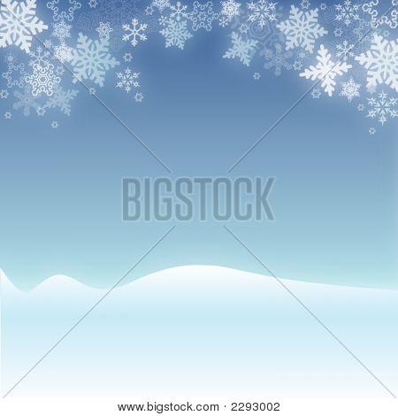 Snowflake Christmas Winter Scene