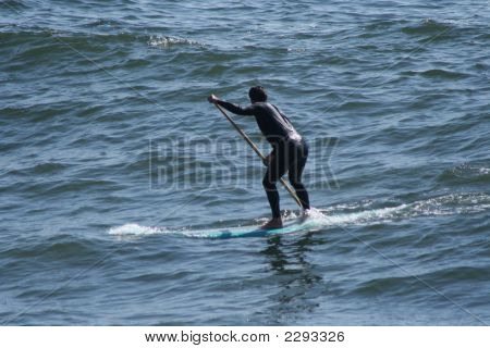 Man On Surf Board