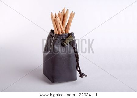 Pouch with crayons