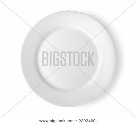 Empty plate isolated Path