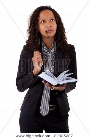 African American Lawyer Holding A Book