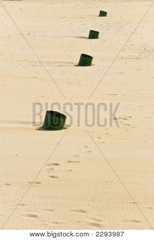 A Rural Scene On The Sand Beach