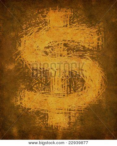 Grunge Vintage Dollar Sign
