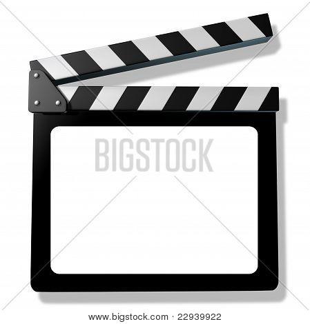 Pizarra de la película en blanco o tablilla
