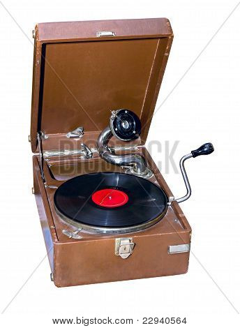 Old Portable Phonograph