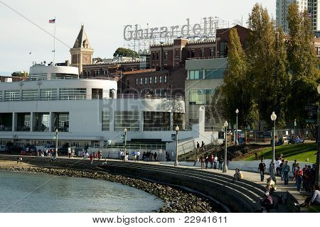 San Francisco Maritime Museum with Tourists