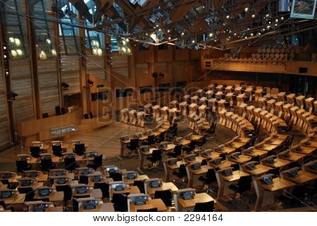 Scottish Parliment Chamber Rooom