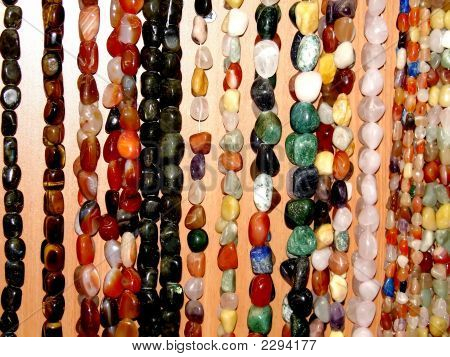 Assorted Strings Of Gem Stones Beds
