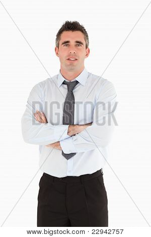 Portrait Of A Salesperson Posing