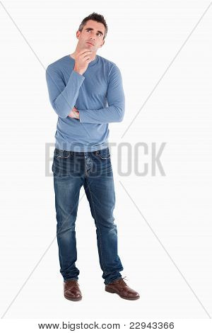 Doubtful Man Posing