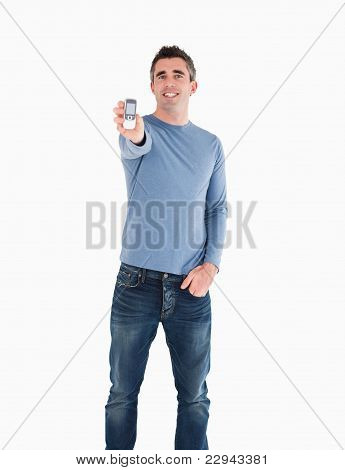 Man Showing His Mobile Phone