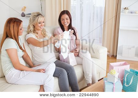 Young Women Having A Baby Shower