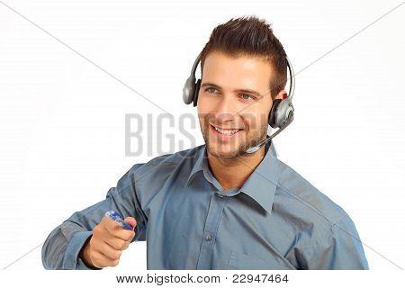 Confident support technician