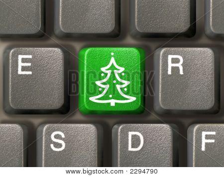 Llave con árbol de Navidad