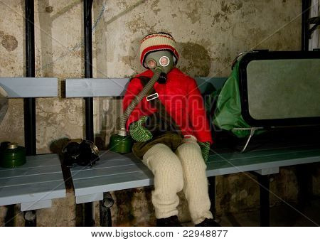 Bomb shelter interior