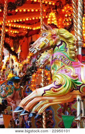 Karussell Pferd